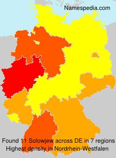 Familiennamen Solowjew - Germany