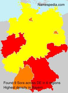 Surname Sora in Germany