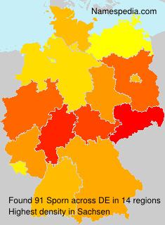 Familiennamen Sporn - Germany