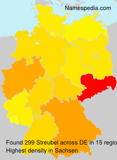 Surname Streubel in Germany