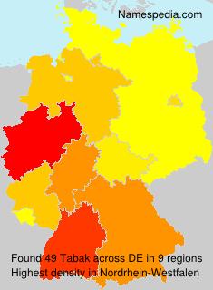 Surname Tabak in Germany