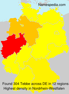 Surname Tebbe in Germany