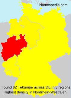 Surname Tekampe in Germany