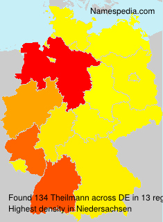 Familiennamen Theilmann - Germany