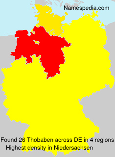 Familiennamen Thobaben - Germany