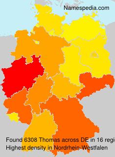 Familiennamen Thomas - Germany