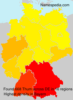 Surname Thum in Germany