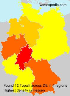 Surname Topalli in Germany
