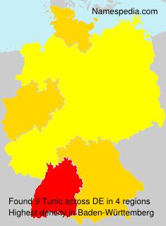 Familiennamen Tunic - Germany