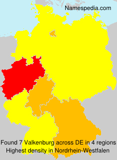 Surname Valkenburg in Germany