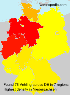 Familiennamen Vehling - Germany
