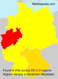 Familiennamen Vitte - Germany