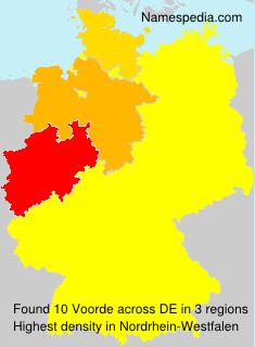 Surname Voorde in Germany