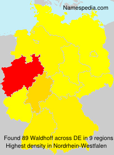 Familiennamen Waldhoff - Germany