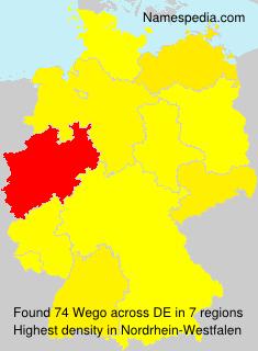 Familiennamen Wego - Germany