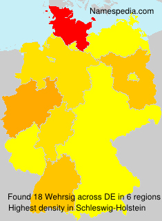 Surname Wehrsig in Germany