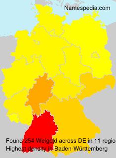 Familiennamen Weigold - Germany