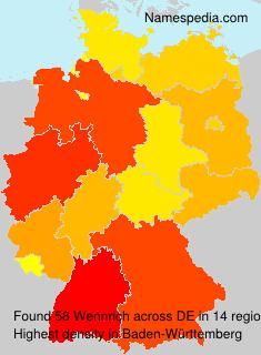 Familiennamen Wennrich - Germany