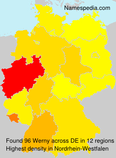 Familiennamen Werny - Germany