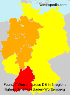 Familiennamen Werren - Germany