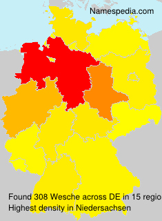 Surname Wesche in Germany