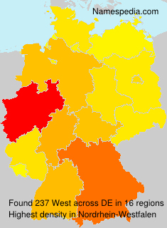 Surname West in Germany