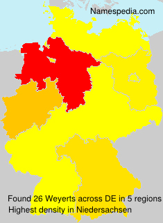 Surname Weyerts in Germany