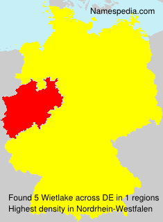 Surname Wietlake in Germany
