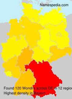 Surname Wondra in Germany