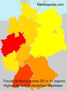 Familiennamen Wong - Germany