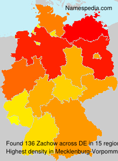 Surname Zachow in Germany
