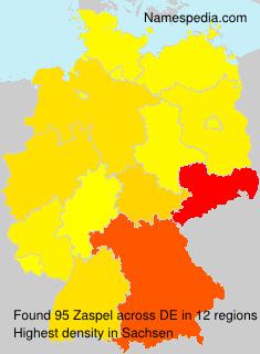 Surname Zaspel in Germany