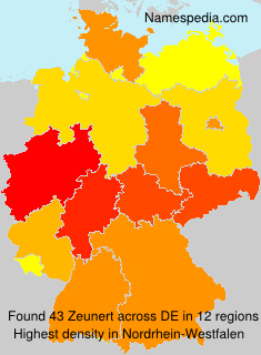 Familiennamen Zeunert - Germany