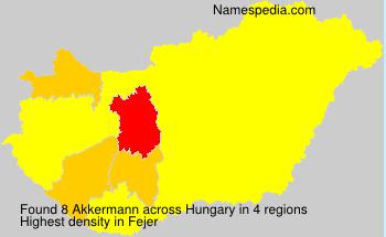 Familiennamen Akkermann - Hungary
