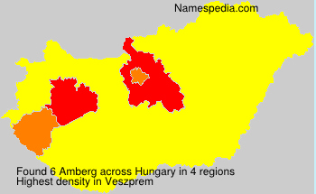 Surname Amberg in Hungary