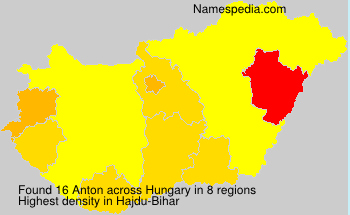 Surname Anton in Hungary