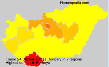 Surname Bacher in Hungary