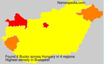 Familiennamen Bucko - Hungary