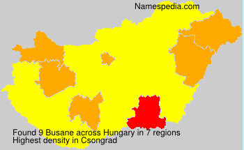 Surname Busane in Hungary