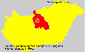 Surname Czopko in Hungary