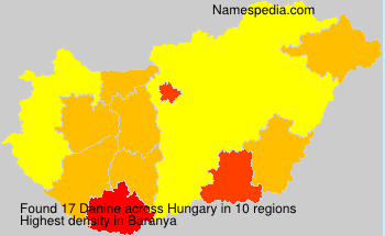 Surname Danine in Hungary
