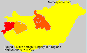 Surname Dietz in Hungary