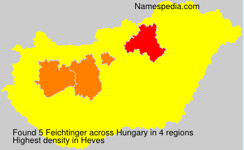 Surname Feichtinger in Hungary