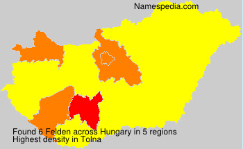 Surname Felden in Hungary