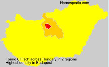 Familiennamen Fisch - Hungary