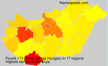 Familiennamen Fuchs - Hungary