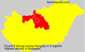 Surname Georgi in Hungary