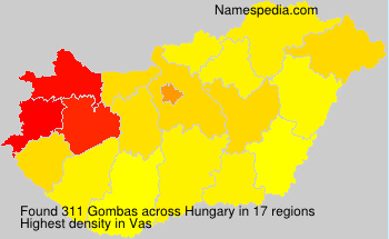Surname Gombas in Hungary