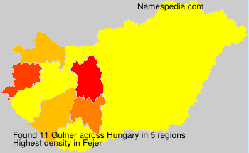 Surname Gulner in Hungary