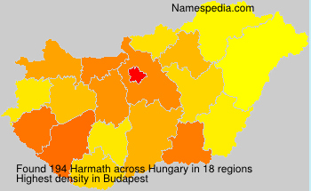 Surname Harmath in Hungary